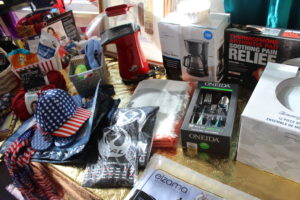 more prizes, including hates, silverware, a coffee maker, and more